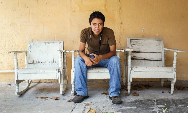 Jaciel Cruz en su etapa tabasqueña. ©2003 Francisco Cubas