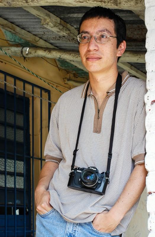 Ya no recuerdo quien me tomó la foto a mí, si Jaciel o Jimmy. ©2003 Jaime Ávalos/Jaciel Cruz