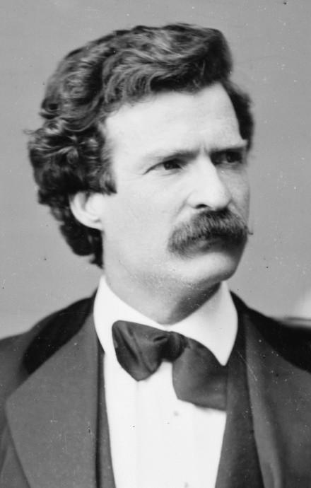 """Mark Twain no quería pasar a la posteridad con una """"tonta y estúpida sonrisa"""". Library of Congress"""