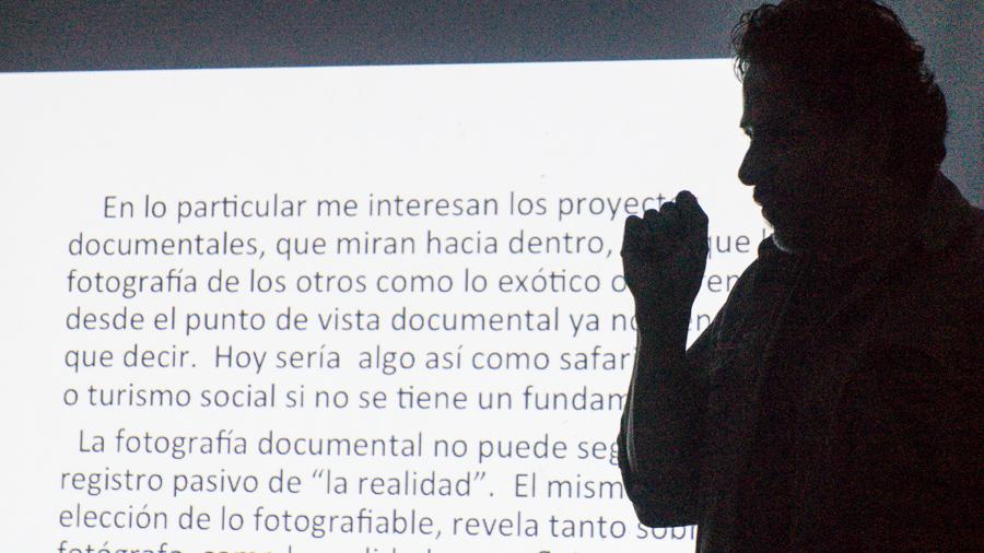 Federico Gama durante el taller en el Planetario Tabasco 2000. ©2013 Francisco Cubas