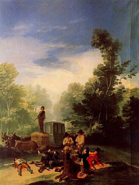 Asalto al coche, Francisco de Goya y Lucientes, 1786-87.